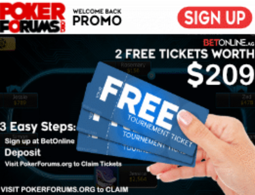 BetOnline and PokerForums Free Tickets Promo